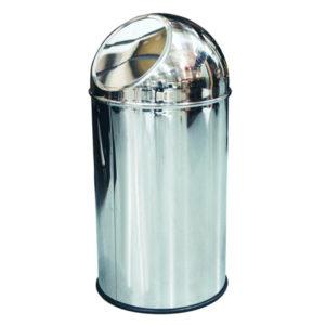 """Coș de gunoi """"cupolă"""" cu capac acționat prin împingere, design elegant și practic."""