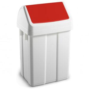 Fabricat din plastic reciclabil și ușor de folosit datorită capacului glisant.