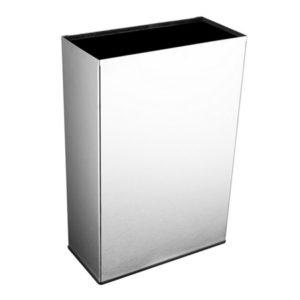 """""""Coș de gunoi din inox, cu design simplu, dar elegant. Fixare la perete sau pe pardoseală. """""""