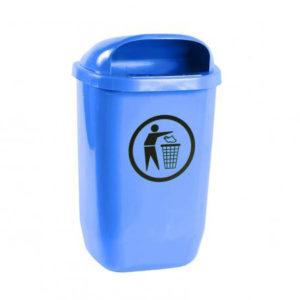 Coș gunoi stradal cu platbandă pentru stâlp, din plastic.
