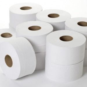 Hârtie igienică pentru toaletă, în două straturi.