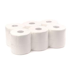 Hârtie igienică pentru toaletă, din celuloză pură, în două straturi.