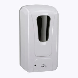 Dispenser automat pentru dezinfectant.
