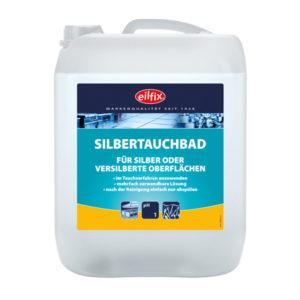 Detergent care curăță rapid suprafețele argintate și placate cu argint.