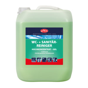 Detergent sanitar cu aciditate redusă.